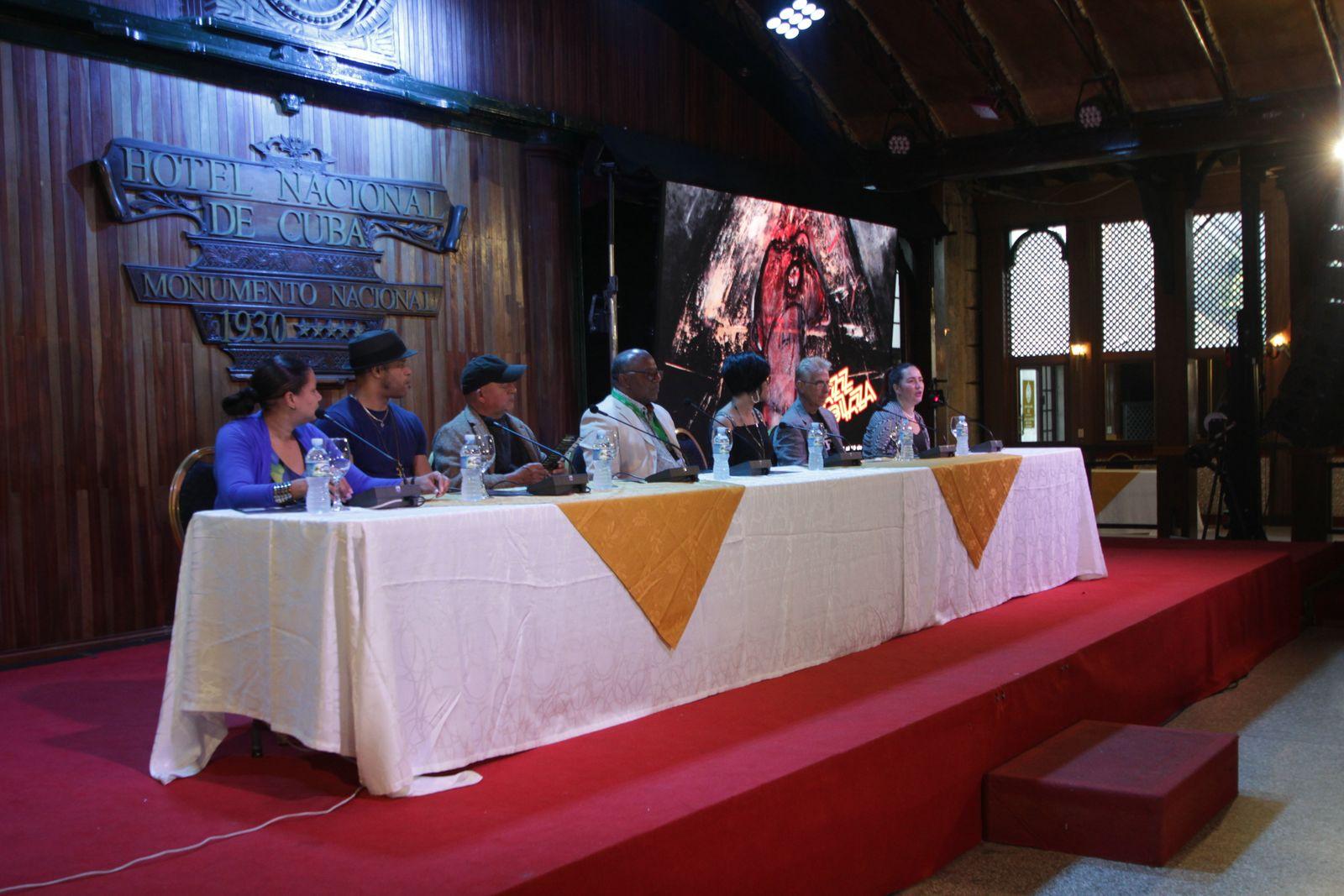Jazz Plaza 2020 Imagen de la conferencia inaugural en el Hotel Nacional de Cuba