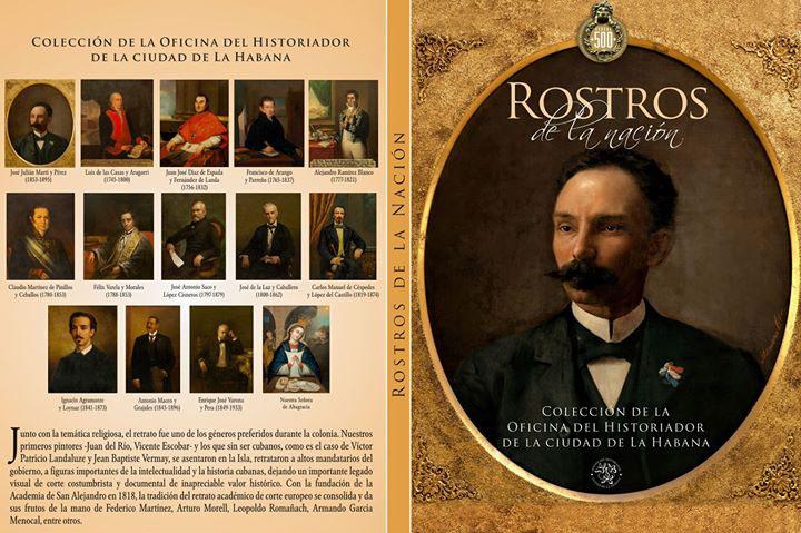 """Estuche de postales """"Rostros de la nación"""", diseño de Alberto Masvidal"""