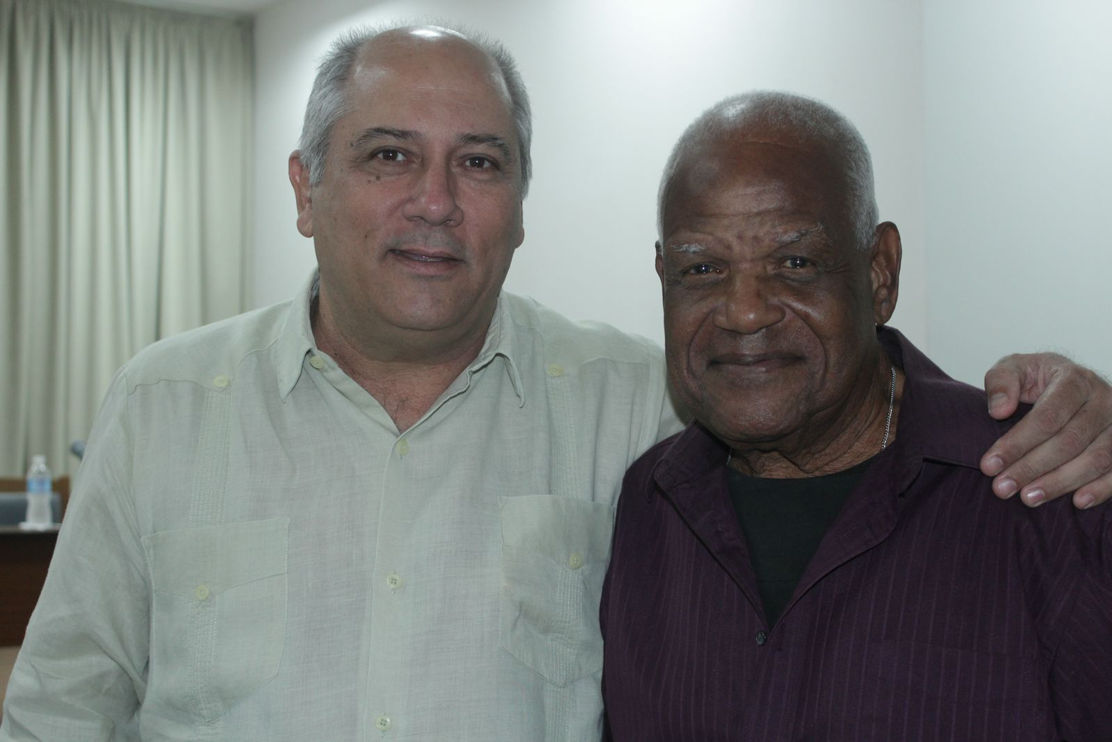 Ministro de Cultura Alpidio Alonso junto a Eugenio