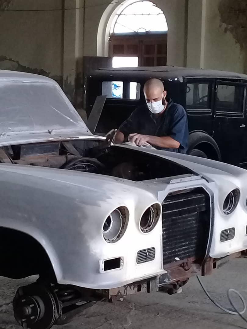 Trabajos en el Museo del Automóvil