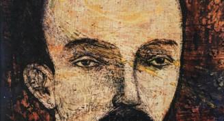 José Martí, 1960  Eduardo Abela José Martí, 1960 Óleo sobre madera 41 x 34 cm