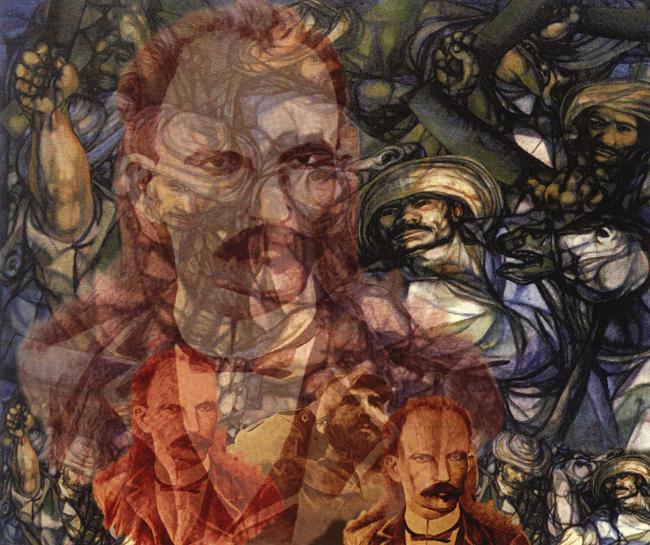 Martí y las milicias campesinas, 2002 José Gómez Fresquet Martí y las milicias campesinas, 2002 Obra digital 50 x 60 cm