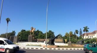 Monumento a Calixto García, dic. 2019. Nuevo emplazamiento