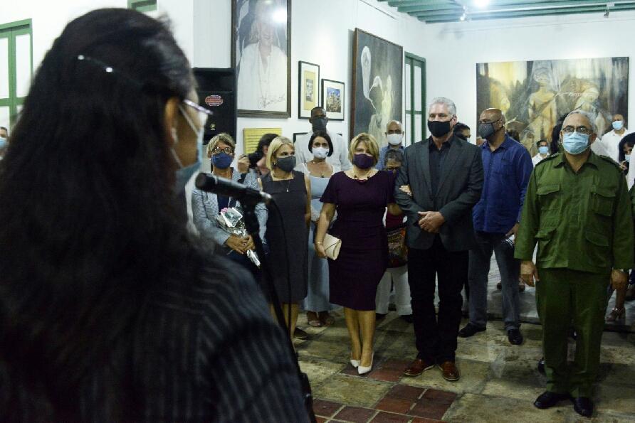 """Momentos de la inauguración de """"Complicidades"""", con la presencia del Presidente de la República Miguel Díaz-Canel Bermúdez, entre otras personalidades"""