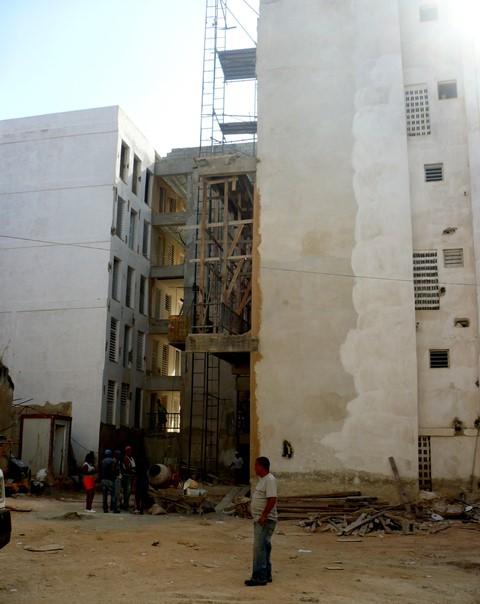 Lamparilla 64, construcción del nuevo edificio
