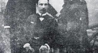 José Martí junto a Gonzalo de Quezada y Aróstegui y su esposa Angelina Miranda y Govín