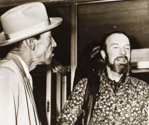 Pete Seeger y Joseito Fernandez. Fotocopia: 24 de noviembre de 1988.