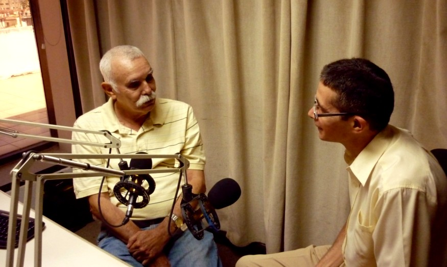Con Angel Graña el más cercano colaborador de Antonio Núñez Jiménez y Vcepresidente de la Fundación A N. Jiménez