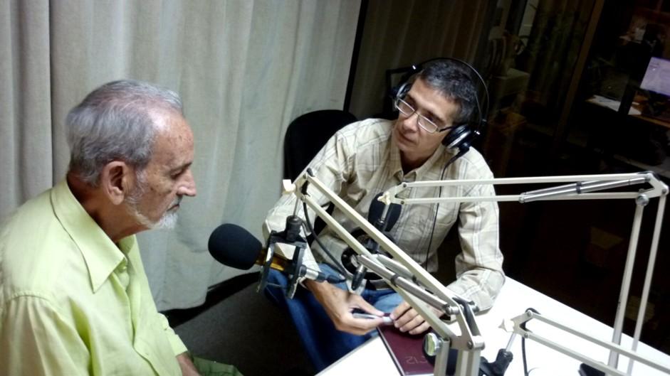 Con Gilberto Silva destacado mastozoólogo y académico cubano