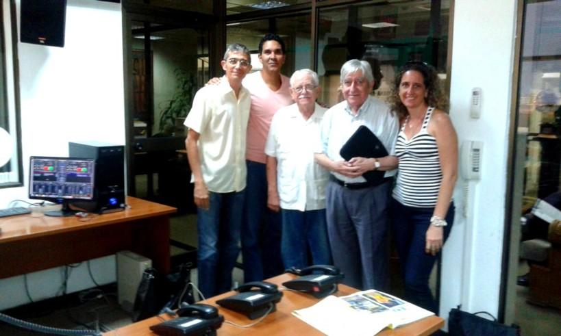 Con José Altshuler Presidente de la Soc Cuban de Historia de la Ciencia, y José Luis Nieto, académico y profesor de la Universidad de Zaragoza