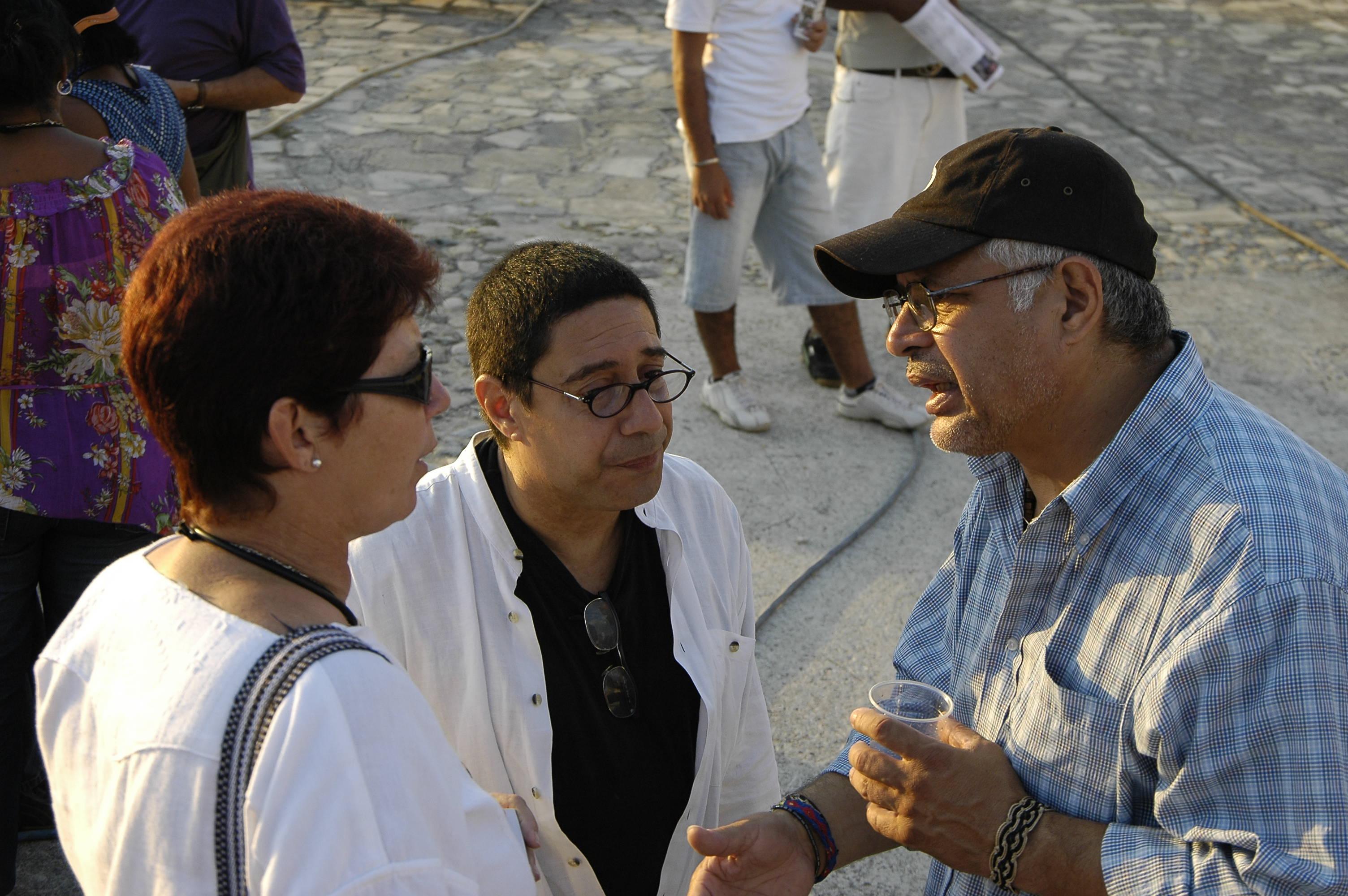 Con Ángel Quintero y Tato Ayrees
