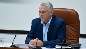 El presidente de la República, Miguel Díaz-Canel Bermúdez, trasladó un mensaje de felicitación al pueblo de Cuba. Foto: Estudios Revolución.