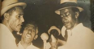 "Vocalistas del ""Guaguancó Matancero"": Esteban Lantri ""Saldiguera,"" Hortensio Alfonso ""Virulilla,"" Juan Mesa ""Juan Bosco"""
