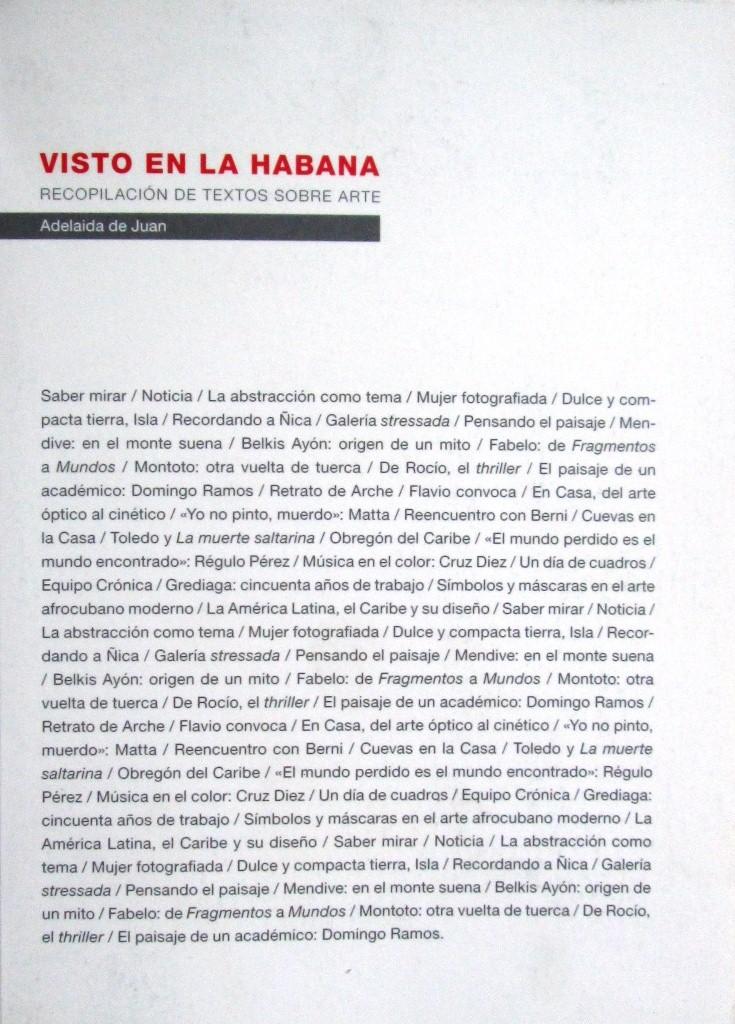 Visto en La Habana