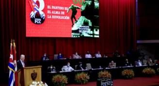 Concluye el 8vo Congreso del Partido Comunista de Cuba (PCC), efectuado en el Palacio de Convenciones, en La Habana, el 19 de abril de 2021. Foto: Ariel Ley / ACN
