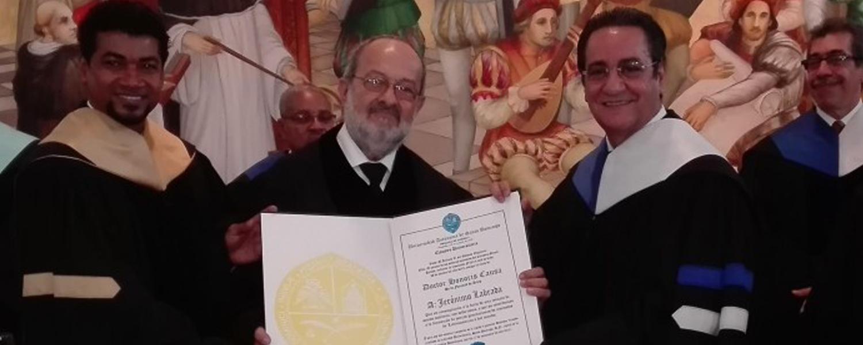 Jerónimo Labrada, Doctor Honoris Causa de la Universidad Autónoma de Santo Domingo