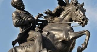 Réplica de la estatua ecuestre del Héroe Nacional cubano José Martí, obra de la artista estadounidense Anna Hyatt Huntington, en el Parque Plaza 13 de Marzo, en La Habana, Cuba.  18 de enero de 2018.  ACN FOTO/Omara GARCÍA MEDEROS/sdl