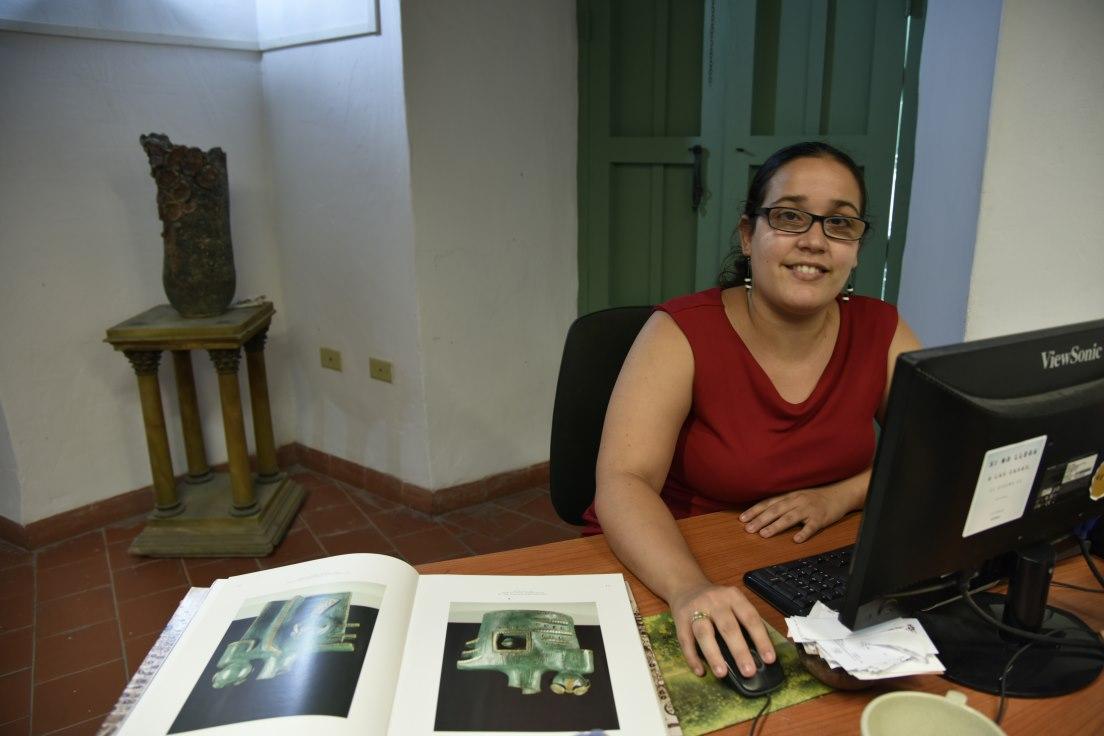 Lilian Ortega del Museo de la Cerámica