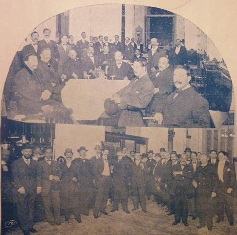 Asistentes a la inauguración, 1910