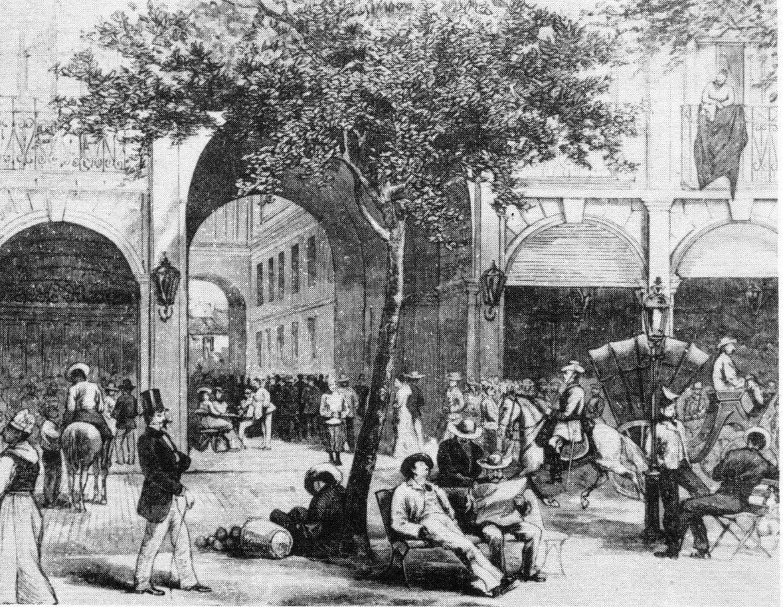 Galería hotel Pasaje, siglo XIX