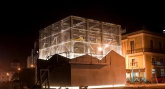 El cubo en la Cámara de Rejas (en la noche)