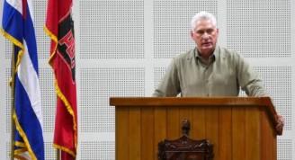 Alocución del Presidente cubano en el marco del Segundo Pleno del Comité Central del Partido, este domingo. Foto: Estudios Revolución